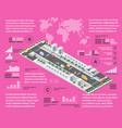 purple infographics vector image