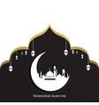 ramadan kareem greeting card design vector image vector image