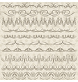 Set of Lace Paper with floral elements vector image vector image