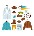 set of stylish female clothes vector image vector image