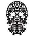 skull in art nouveau style vector image vector image