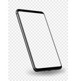 smartphone mockup transparent screen vector image vector image