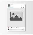 social network photo frame on white background vector image vector image