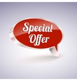 Special offer icon speech and thought bubbles vector image