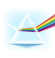 spectrum prism with light dispersion effect vector image vector image