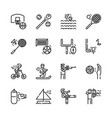 sport activities icon set vector image