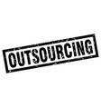 square grunge black outsourcing stamp vector image vector image