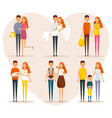 stages family life concept poster vector image