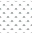 street burger pattern seamless vector image