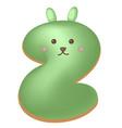 sweet donut font letter z cartoon vector image vector image