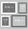 Tablet mockup set vector image vector image