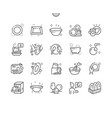 tableware well-crafted pixel perfect thin vector image vector image