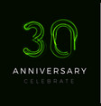 thirty anniversary poster for party 30th years vector image vector image