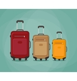 three Travel bag vector image