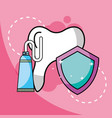 toothpaste tooth dental protection vector image vector image