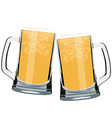 Two beer mug vector image