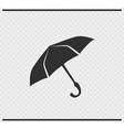 umbrella icon black color on transparent vector image vector image