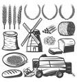 vintage agriculture elements set vector image vector image