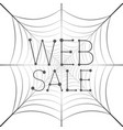 web sale hanging uniform web banner vector image