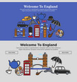 welcome to england promotional banner vector image vector image