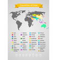 world map infographic template countries asia vector image vector image