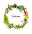 wreath botanical frame composition vector image vector image