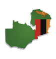 zambia africa map flag vector image