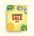 summer sale poster set with 50 off discount vector image