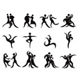 collection of abstract dancers vector image