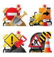 Roadwork icons vector image