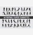20 soccer playing footbal various design set vector image vector image