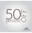 50 sale Price off icon with 50 percent discount vector image