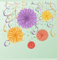 a greeting card with flowers for congratulations vector image vector image
