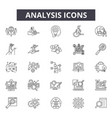 analysis line icons for web and mobile design vector image vector image