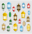 arabic lantern sticker concept ramadan kareem vector image vector image