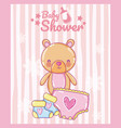 baby shower cartoons card vector image