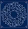 bandana square pattern marine-themed vector image vector image