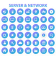 big server networks icon set trendy line icons vector image vector image