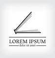 book logo design template vector image