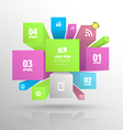 Boxes banner abstract vector image vector image