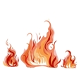 Bright fire flame with sparks vector image vector image