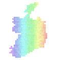 bright sphere dot ireland republic map vector image vector image