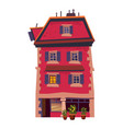 building house historic old architecture street vector image vector image