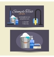 Business card of cleaning service vector image
