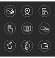 Business icon set outline flat collection