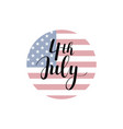 calligraphy 4th july celebration icons vector image vector image