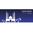 card with mosque vector image