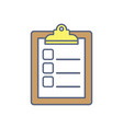 checklist to do list flat vector image vector image
