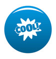 comic boom cool icon blue vector image vector image