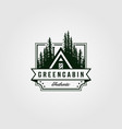 cottage logo vintage with pine tree symbol design vector image vector image